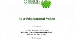 Best Educational Video - Erfolg beim Going Green-Wettbewerb 2019